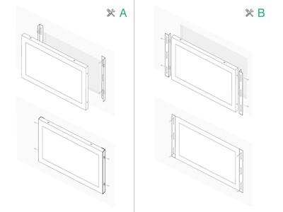 7 Zoll Monitor Metall (4:3)
